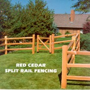 Wood Round  & Split Rail Fence - New